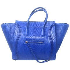 Celine Phantom Blue Python Bag