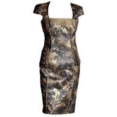 Badgley Mischka Couture Cocktailkleid Größe 2