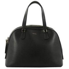 Gucci Lady Dollar Dome Satchel Leather Medium