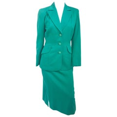1940s Kelly Green Suit Set