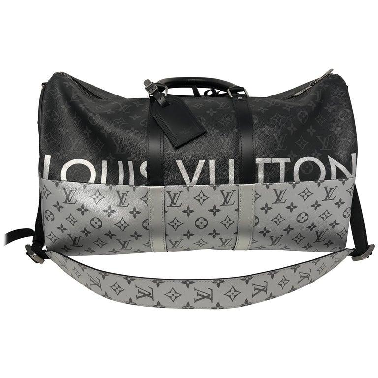 309ec51c7709 Louis Vuitton Monogram Eclipse Split Keepall 50 Bandouliere at 1stdibs