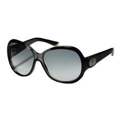 Neue Balenciaga Schwarze Reflektierende Sonnenbrille