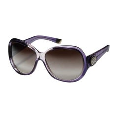 New Balenciaga Purple Reflective Sunglasses With Case