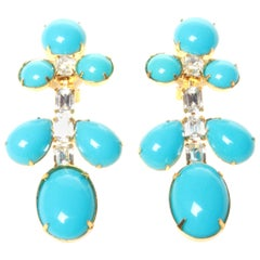 Kenneth Jay Lane Clip On Earrings