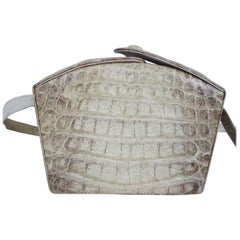 Art deco Himalaya croco leather bag