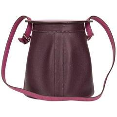 2005 Hermes Tosca & Raisin Epsom Leather Farming Bucket Bag