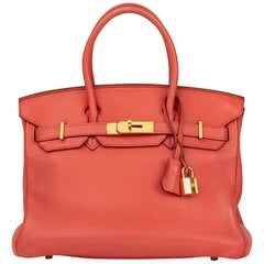 2010 Hermes Bourgainville Clemence Leather Birkin 30cm