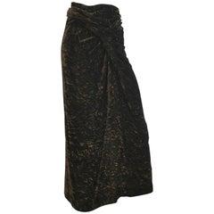Romeo Gigli 1980s Brown Velvet Long Skirt Size 6.