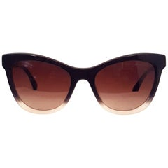 Chanel Black Ombre Polarized Cat Eye Style Sunglasses