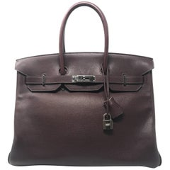 Hermes Birkin 35cm Havane with Palladium Hardware