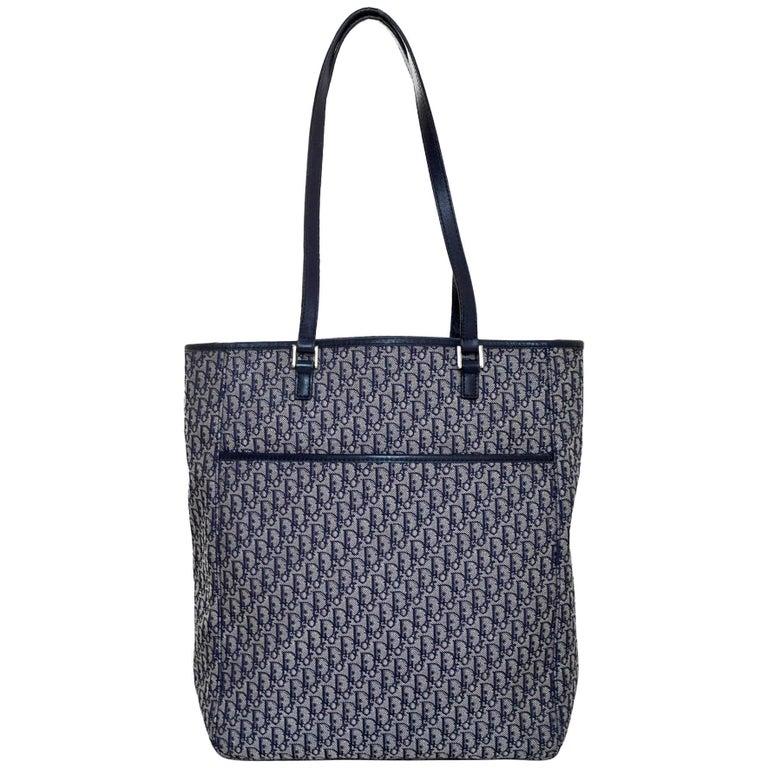 Christian Dior Vintage Blue Mini Diorissimo Monogram Tote Bag