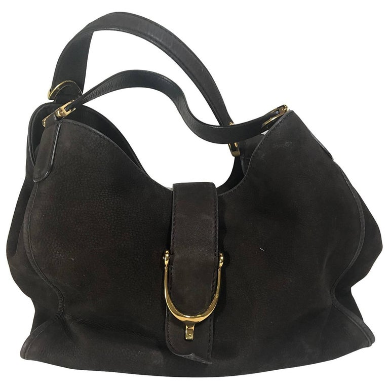 392d737be4d2 Gucci Soft Stirrup Hobo For Sale. Brown nubuck.