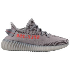 "YEEZY ADIDAS c.2017 ""Boost 350 V2 Beluga 2.0"" KANYE WEST Gray Knit Sneakers NIB"