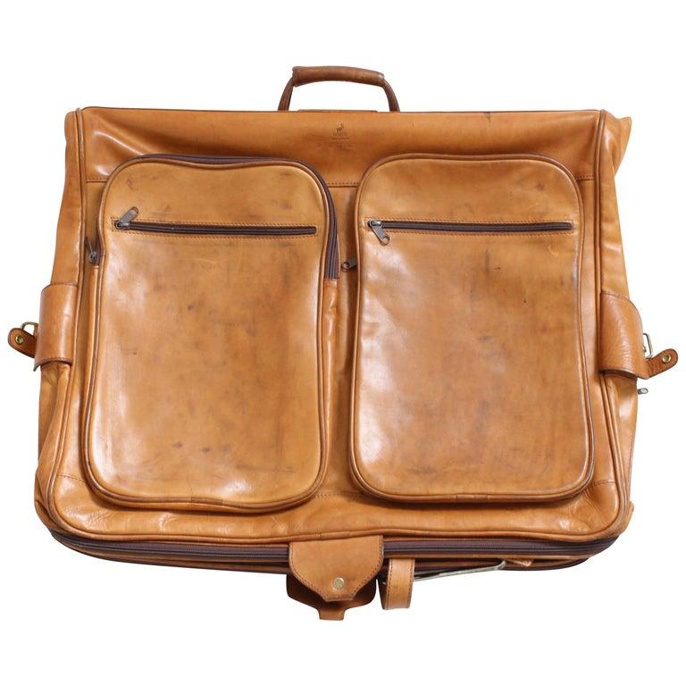 Renwick Canada Belting Leather Garment Bag Travel Luggage Cuir Industriel Rare
