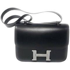 Hermes Constance 18cm Black