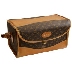 Louis Vuitton The French Co. Saks Monogram Train Case Vanity Travel Bag, 1970s