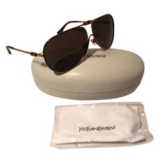 New Yves Saint Laurent YSL Aviator Swarovski Crystal Sunglasses With Case