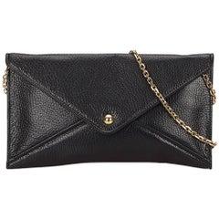 Loewe Black Leather I Loewe You Clutch