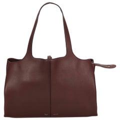 Celine Brown Medium Calf Leather Trifold Shoulder Bag