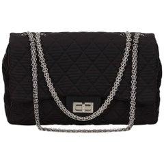 Chanel Black Jumbo Matelasse Reissue Shoulder Bag
