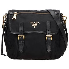 Prada Black Jacquard Shoulder Bag