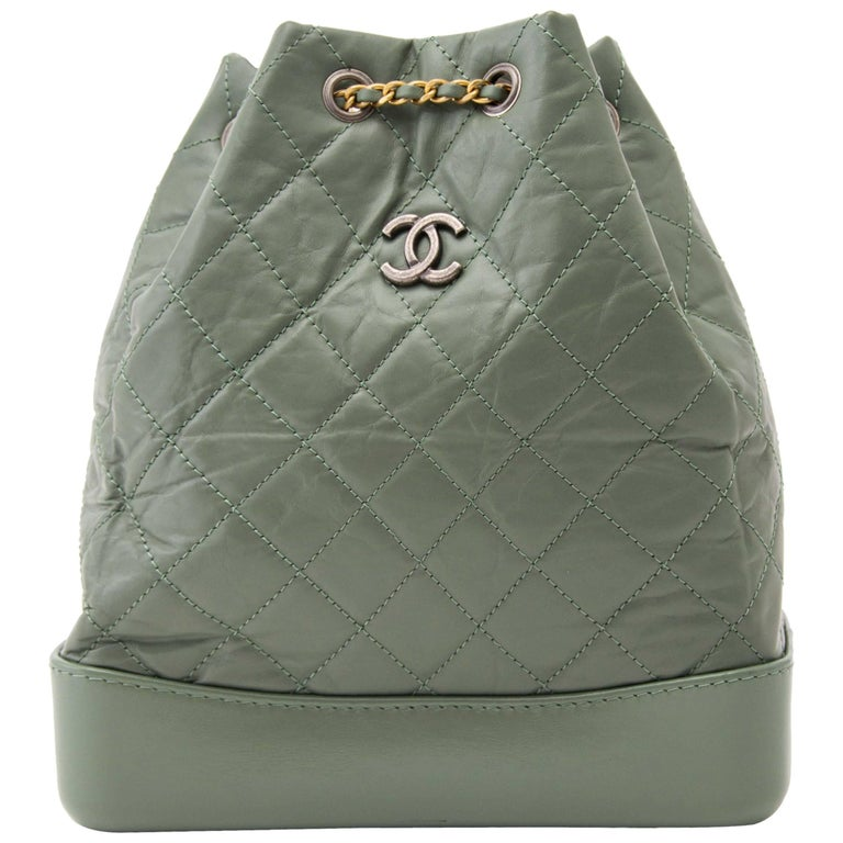 Chanel Small Green Gabrielle Backpack