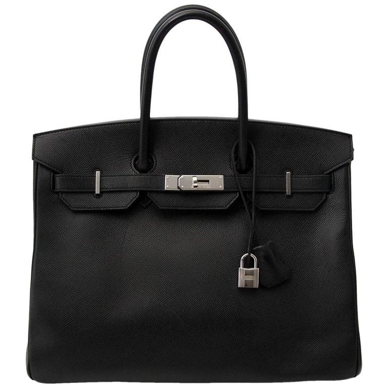 Hermès Birkin 35 Black Epsom PHW