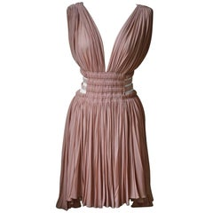 Azzedine Alaia Cut-Out Pleated Dress