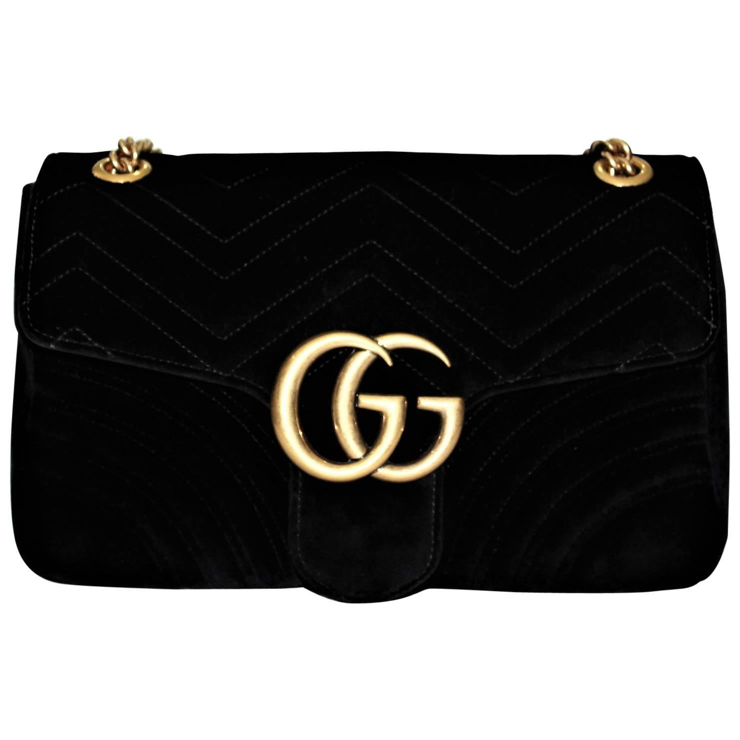 9dedb82f639f5 Gucci GG Marmont velvet shoulder bag at 1stdibs