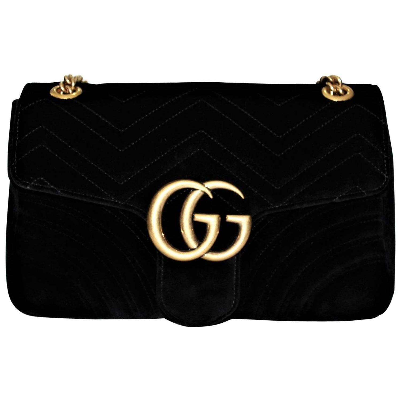 3ff5175c3 Gucci GG Marmont velvet shoulder bag at 1stdibs