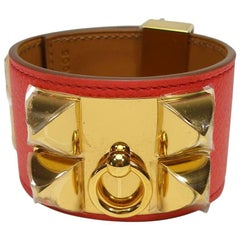 Hermès Bracelet CDC Collier de Chien Rose Jaipur Epsom Leather GHW / Brand New