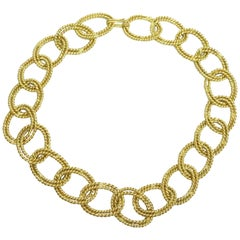Chanel Gold Double Link Necklace - Circa 87