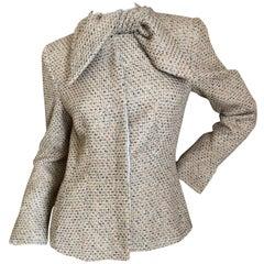 Alexander McQueen Vintage Tweed Jacket with Scarf Tie