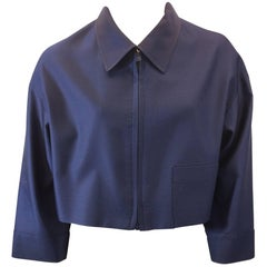Prada Navy Cropped Jacket