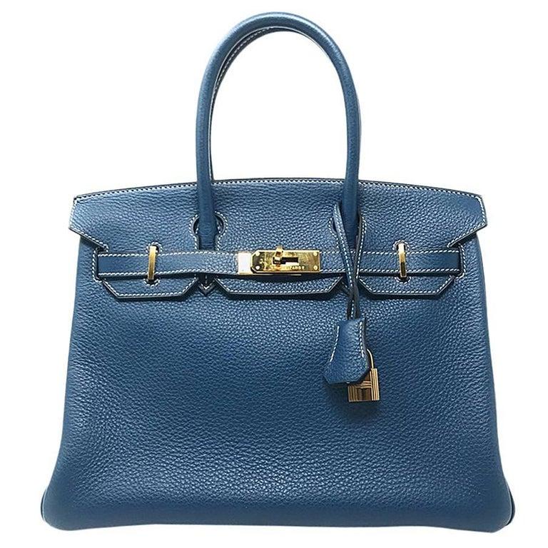 Hermes Birkin 32cm Blue Thalassa