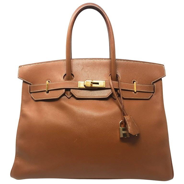 Hermes Birkin 35cm Gold Bag
