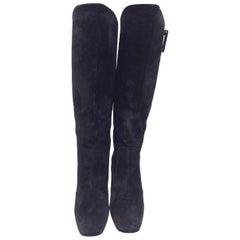 Roger Vivier Black Suede Boots