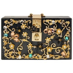 Dolce & Gabbana Lucite Floral Box Purse, 2016