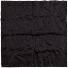Hermès Black Op'H Silk Pochette Scarf