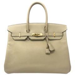 Hermes Birkin 35cm Parchmin Bag