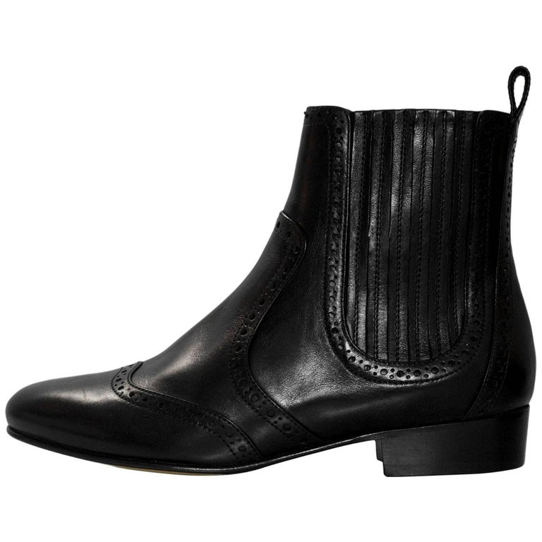 Tabitha Simmons Black Spectator Sibley Ankle Boots Sz 36 with Box, DB