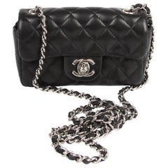 Chanel Black leather quilted Mini bag, 2005