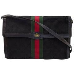 Gucci Black Monogram Canvas Crossbody/Clutch Bag