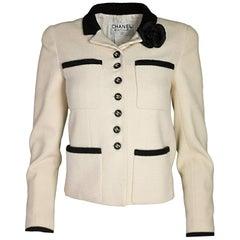 Chanel Cream & Black Jacket sz FR 36