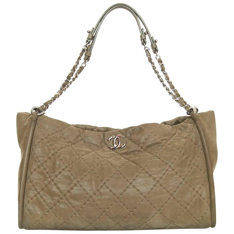 Chanel Tan Iridescent Quilted Calfskin Shoulder Bag