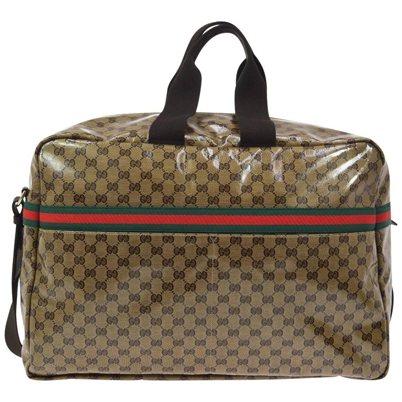 2d81c0a6cd6c Gucci Monogram Men's Women's Travel Duffle Carryall Weekender Shoulder Tote  Bag at 1stdibs