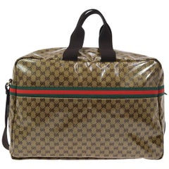 Gucci Monogram Men's Women's Travel Duffle Carryall Weekender Shoulder Tote Bag