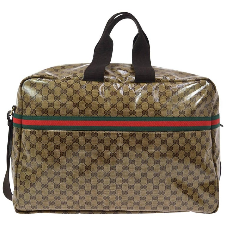 Gucci Monogram Men's Women's Travel Duffle Carryall Weekender Shoulder Tote Bag