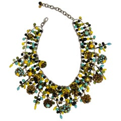 "Francoise Montague Glass and Swarovski Crystal ""Dara"" Necklace"