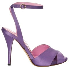 New Tom Ford for YSL Yves Saint Laurent Final Collection Satin Heels Sz 37